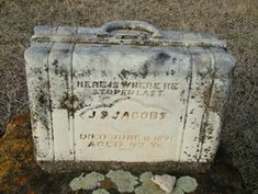 "The Suitcase Tombstone in Lincoln, Kansas, was featured in the book: ""The Soul In The Stone: Cemetery Art From America's Heartland"" by John Gary Brown"