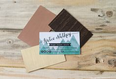 DIY-upcycled-business-cards-with-metallic-contact-paper-on-the-back-upcycledtreasures
