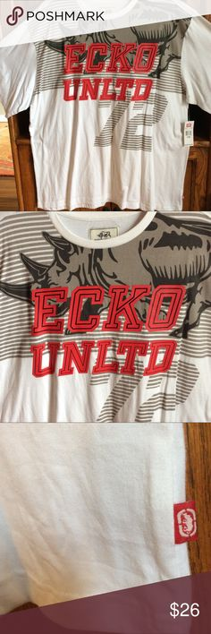 ECKO UNLTD Rhino 🦏 T-shirt 4XB Size 4XB ECKO UNLIMITED Men's Tee Shirt.  Cotton and Polyester/Cotton Blend Well made and comfortable. Ecko Unlimited Shirts Tees - Short Sleeve
