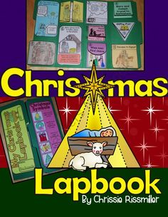 Christmas Lapbook Interactive Kit: Religious from Chrissie Rissmiller on TeachersNotebook.com -  (34 pages)  - Blackline masters and photo illustrations for making a lapbook about the birth of the baby Jesus with your students.