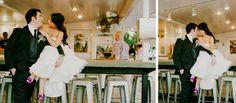 bride and groom in restaurant  I milou + olin photography  #cute #portraits #wedding #tra vigne #napa