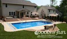 Having a pool sounds awesome especially if you are working with the best backyard pool landscaping ideas there is. How you design a proper backyard with a pool matters. Backyard Pool Landscaping, Backyard Pool Designs, Swimming Pools Backyard, Pool Spa, Backyard Retreat, Landscaping Ideas, Backyard Ideas, Decks Around Pools, Pool Decks