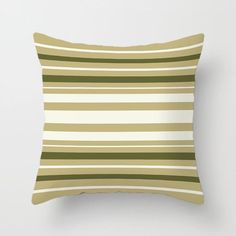 Olive Green Pillow Covers Dark Green Throw Pillows Striped | Etsy Old Pillows, Green Throw Pillows, Throw Pillow Cases, Pillow Shams, Lumbar Pillow, Green Pillow Covers, Cushion Covers, Green Bar, Man Room