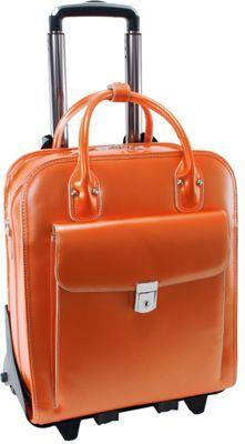 McKlein USA W Series La Grange Leather Vertical Detachable-Wheeled Ladies   Briefcase Orange - cee26c88da