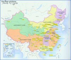cool China map for travel