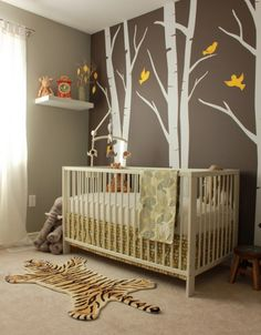 Love the white tree and the the Ikea Gulliver crib is very highly rated for just $100. http://buymodernbaby.com/blog/wp-content/uploads/2011/05/Overview-480x615.jpg