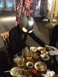 tane-man, beer and soba.