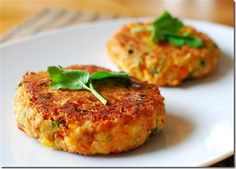 Vegetable and Cheddar Patties