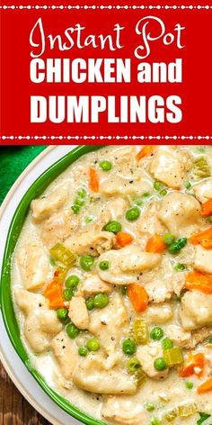This Instant Pot Chicken and Dumplings is an easy one-pot comfort food meal that can be ready in 30 minutes by using your Instant Pot! The post This Instant Pot Chicken and Dumplings is an easy one-pot comfort food meal that appeared first on Recipes. Best Instant Pot Recipe, Instant Pot Dinner Recipes, Chicken Recipe Instant Pot, Good Recipes For Dinner, Instant Pot Meals, Instant Recipes, Dinner Healthy, Diet Food To Lose Weight, Instant Pot Pressure Cooker
