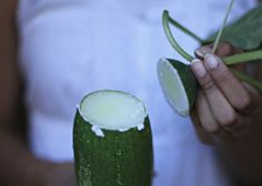 What a handy tip - How to remove remove bitterness from a cucumber, from vegetarianirvana