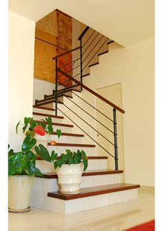 contemporary staircase by paissin-dome