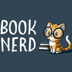 Nerdy and proud. 📚 Get the indigo Book Nerd t-shirt only at TeeTurtle!