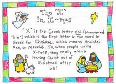 """The """"X"""" in X-mas.  Never heard of this, but sheds a whole new light on it!!"""