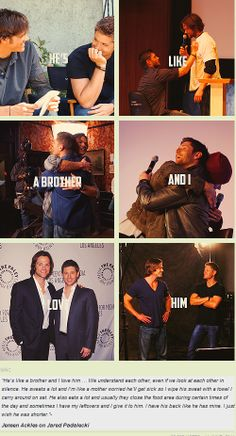 Jensen talking about Jared and their brotherly bond...