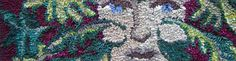 Green Man Rag Rug by Debbie Siniska