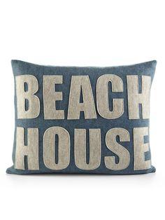 Alexandra Ferguson - Beach House 14x18 Pillow, get felt letters and sew onto plain pillow or cushion