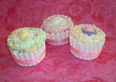 Baby Sock Cupcakes