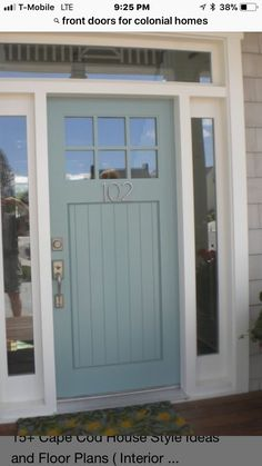 Exterior Front Doors, Garage Doors, Door Ideas, Home Renovation, Curb Appeal, Farmhouse Style, Sweet Home, House Design, Decorating