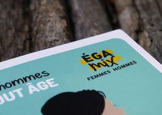 """Projet : création de l'identité de la campagne : sensibilisation sur l'égalité """"femmes-hommes"""" dans le domaine professionnel Demande du : FR-CIDFF (Centres d'Information sur les Droits des Femmes et des Familles) Plus d'infos sur : www.cggraphicdesigner.com"""