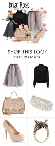 """Briar Rose"" by disney-teen ❤ liked on Polyvore featuring Chicwish, Dolce&Gabbana, Dorothy Perkins, LC Lauren Conrad, Accessorize, disney, sleepingbeauty, disneybound and disneyfashion"