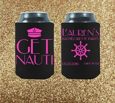 The absolute, most important rule of etiquette when it comes to bachelorette parties is this: You are celebrating a very special bride-to-be, and this weekend is all about her!  Bachelorette Can Coolers  Custom Can Coolers   by StripedPeanut