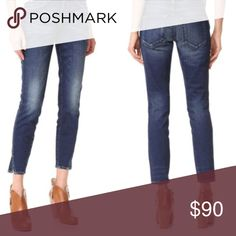"""AMO True Blue Skinny Jeans Cropped AMO Women's Size 24 Twist True Blue Jeans Cropped Ankle Perfect condition, no flaws. Waist - 14"""" Hips - 16"""" Front rise - 7.5"""" Inseam - 27.5"""" Anthropologie Jeans Ankle & Cropped"""