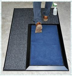 OTHER POSSIBLE PLACEMENTS of the Stride Mat can be just inside the entry doorway from the personnel parking lot, and the doorway from the station area to the clerical offices. By creating these multiple Stride Mat stations, the entire personnel section of the station has now been sufficiently matted to highly diminish the spread of bacteria and viruses by shoe to floor contact in the station's working and living environment. In this photo, entry doors to both the living/office space to the l...