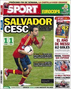 Prensa deportiva del 11 de junio 2012