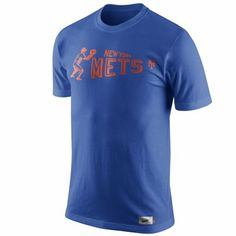 Nike New York Mets Cooperstown Washed Pennant T-Shirt - Royal Blue