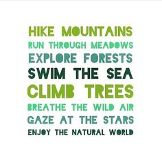 Get outdoors today!