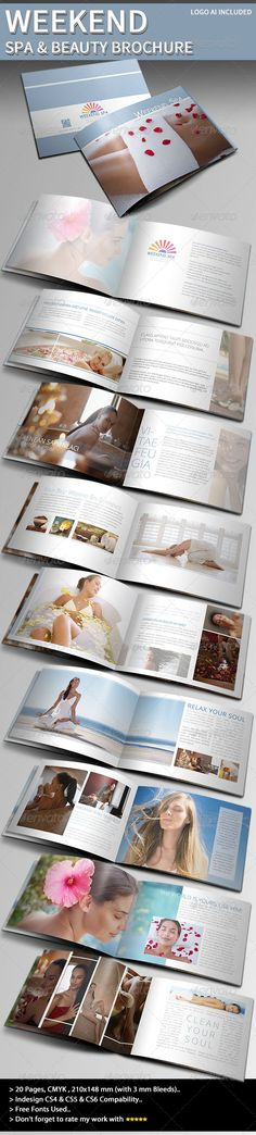 Weekend Spa & Beauty Brochure - GraphicRiver Item for Sale