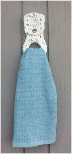 Crochet Towel Holder with Full size Kitchen Towel