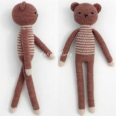 Polina Kuts: МК Медведь вязанный крючком. Crochet bear