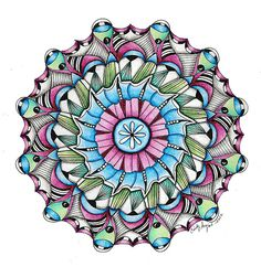 Mandala-Liz Mauve by Paint Chip, via Flickr