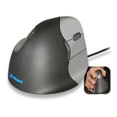 BUY NOW Evoluent VerticalMouse 4 Regular Size Right Hand (model # USB Wired Avoids forearm twisting for comfort and good