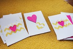 Easy valentine cards - sewn scraps