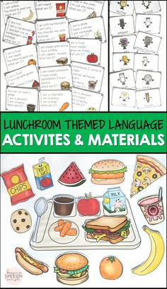 This loaded pack of super fun activities and materials will keep students engaged while they develop vocabulary, practice inference skills, improve understanding of word relationships, practice pronouns as well as following directions. The fun food icons and tray can be used for direction following and barrier games. These materials are ideal for speech therapy, preschool, kindergarten and special education.