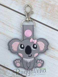 Koala Bear Snap Tab/Key Fob