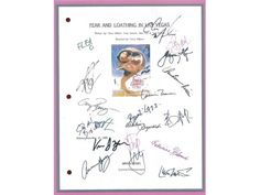 Fear and Loathing in Las Vegas Entire Movie Script Screenplay Signed: Johnny Depp, Cameron Diaz, Terry Gilliam, Gary Busey, Tobey Maguire