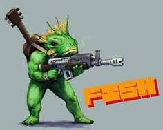 Fish - Nuclear Throne - Fanart
