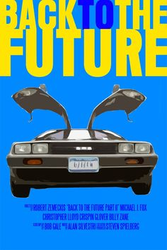 Back To The Future Movie Poster (Paper or Plexiglas or Canvas). $12.00, via Etsy.