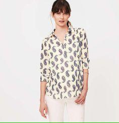 Maternity Paisley Softened Shirt | Loft