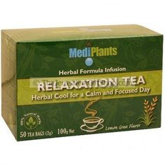 MediPlants Relaxation Herbal Tea is a potent herbal formulation to sooth strained nerves without causing drowsiness.