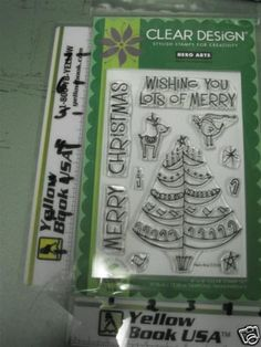 Hero Arts CL355 Cling Wishing you Merry... Stamp Set