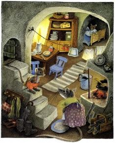 © Ilon Wikland ~ I've always loved illustrations of animals in their little homes! Can't help myself!