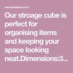 Our stroage unit is perfect for organising items and keeping your space looking Fabric Content:Pine Cube Furniture, Living Room Storage, Cube Storage, Organising, Be Perfect, Your Space, The Unit, Organization, Content