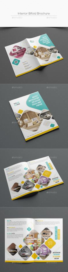 Interior Bifold Brochure  — PSD Template #color #blue • Download ➝ https://graphicriver.net/item/interior-bifold-brochure/18060690?ref=pxcr
