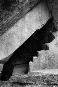 staircase in Machu Picchu #travel #peru