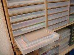 私的画像館・プチDIY写真館・PDF板とプラスチックケースで作るクールな引き出し