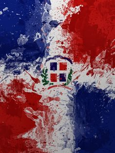 Dominican Republic Flag  What about combining the Celtic Motherhood tattoo with a watercolor background of the colors of the DR flag to represent Audrey's multicultural heritage?